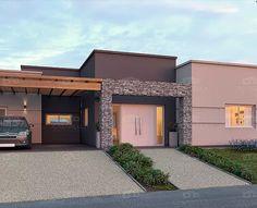 ideas for pergola modernas entrada Modern House Facades, Modern House Plans, Modern House Design, Style At Home, Modern Exterior, Exterior Design, Enclosed Patio, Box Houses, Facade House