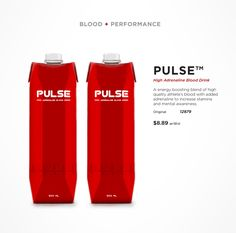 Sanguinex, Pulse, High Adrenaline Blood Drink, Vampire Energy drink, Packaging design, Blood, Performance