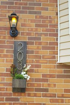 In Special Walnut for your house numbers. love the house number/planter combo
