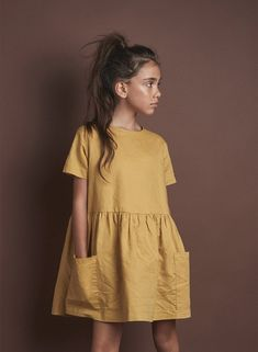 Darcy Woven Dress - Mustard - - Source by de moda para niñas grandes Baby Girl Party Dresses, Little Girl Dresses, Baby Dress, Girls Dresses, Dresses Dresses, Summer Dresses, Diy Vetement, Moda Casual, Apostolic Fashion