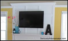 """How to Hide TV Cords in Trim Work"" – Guest post at the click-through gives step-by-step instructions and photos."