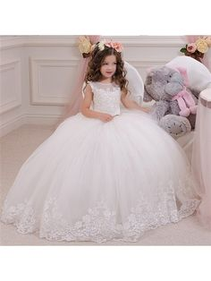 Lace Tulle Princess Ball Gown Flower Girl Dresses 5501026