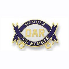 Member For Member pin; earned when a current member assists a prospective member in getting her application completed and proving membership