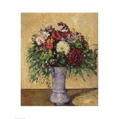 Bouquet of Flowers in a Vase c1877 Canvas Art - Paul Cezanne (24 x 36)