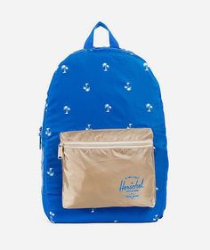 8b019396560e Blue Packable Daypack made of lightweight nylon ripstop to keep it light  and strong. With