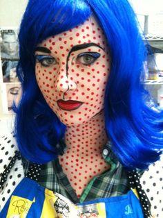 Comic book makeup...