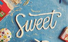 Quando scrivere con il cibo diventa arte #arte #design #cibo #tipografia #font