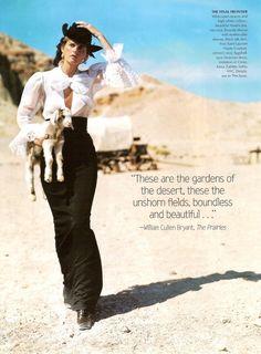 "awesome Timeless | Stella Tennant em ""Oh Pioneers!"" para Vogue US Junho 2001 por Arthur Elgort"