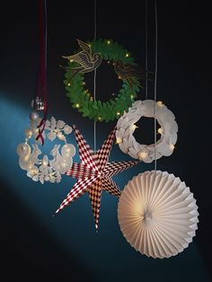 The IKEA winter collection is on sale at the stores. So if you're into the whole Christmas comes early thing, then read on and plan for the holiday season. Decoration Ikea, Origami Decoration, Paper Decorations, Christmas Decorations, Christmas Ornaments, Holiday Decor, Ikea Christmas, Christmas Wrapping, Xmas