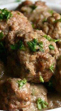 Instant Pot Swedish Meatballs & Mushroom Gravy