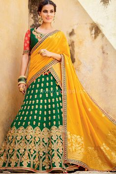 Bridal Lehenga Choli with Contrast Dupatta....  #rajwadi #lehengacholi #weddingseason #weddingdress #embroidery #lehenga #ethnicwear #bridalwear #designerwear #onlineshopping