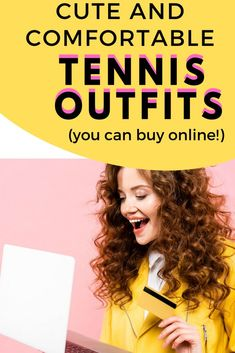If you are looking for cute tennis skirts that you can wear both on and off the tennis court then you will love these cheap tennis outfit ideas that you can purchase online. Tennis Bags, Tennis Gear, Tennis Gifts, Tennis Dress, Tennis Outfits, Tennis Shop, Play Tennis, Womens Tennis Skirts, Tennis Funny
