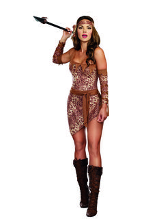 Ladies Sexy Jungle Warrior Costume
