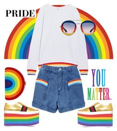 """You matter"" by nineseventyseven ❤ liked on Polyvore featuring The Upside, Gucci, Milly and pride"