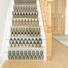 Alternative Flooring Quirky B Margo Selby Annie 7080 Stair Runner Stairway Carpet, Carpet Stairs, Hall Carpet, Beige Carpet, Diy Carpet, Carpet Ideas, Carpet Decor, Cheap Carpet, Modern Carpet