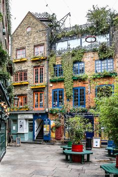 Colorful Neal's Yard in Covent Garden, London