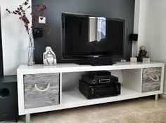 Image result for bookshelf as tv stand