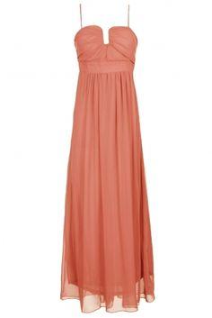 Dianne Peach Long Maxi Dress