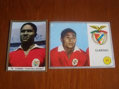 2 stickers Ancient of EUSÉBIO - Sport Lisboa e Benfica (PORTUGAL) - Rare
