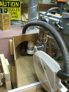 dust collector for radial arm saw craftsman Diy Miter Saw Stand, Mitre Saw Stand, Shop Dust Collection, Radial Arm Saw, Dust Collector, Workshop Ideas, Woodworking Projects, Craftsman, Theatre