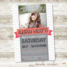 Modern Waves Graduation Party DIY Printable Invitation