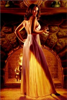 Hildebrandt, Greg (b,1939)- Fireplace & Brandy