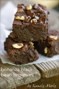 A bonanza of health can be found in these Black Bean Brownies by Namely Marly.