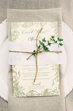 herb place setting...different herbs for different tables, thyme, lavender, rosemary,sage?