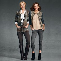 Be a Good Sport! Being sporty doesn't mean you have to compromise on being chic! Especially in the Ponte Riding Pant (Left) and the Mixer Jacket (Right)