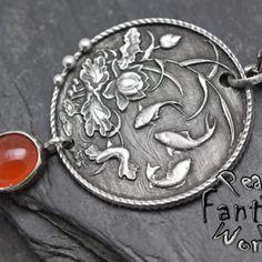 Fish~Carnelian~Engraved Pendant – PeagerFantasyWorld