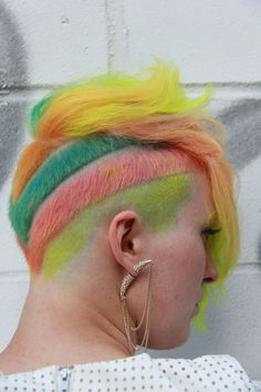 JoAnn Larpenter Sinclair   2014 Show us Your VIVIDS Contest   #pravana #pravanavivids #showusyourvivids #pravananeons #pinkhair #greenhair #yellowhair #orangehair #bluehair