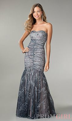 Shimmering Strapless Mermaid Gown by Jump at PromGirl.com