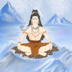 Shiva Linga, Shiva Shakti, Lord Shiva Sketch, Village Girl, Lord Shiva Painting, Shiva Art, Simple Portrait, Om Namah Shivaya, Durga Goddess