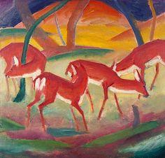 Franz Marc - Red Deer 1