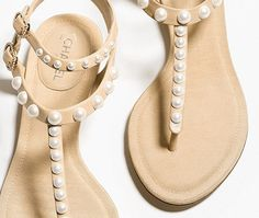 Sandalen, lammleder-beige - CHANEL Flip Flops, Beige, Shoes, Summer, Fashion, Shoe, Sandals, Zapatos, Summer Time