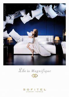 """Bed"" Print Ad for Sofitel by BETC Euro Rscg (hotel ad)"
