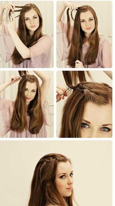 how to do pretty hairstyles Videos Work Hairstyles, Easy Hairstyles For Long Hair, Trendy Hairstyles, Hairstyles Videos, Short Hair, Front Hair Styles, Medium Hair Styles, Curly Hair Styles, Hair Upstyles