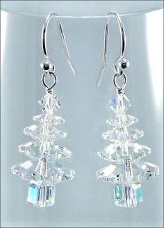 Wintry Crystal Swarovski Christmas Tree Earrings | DIY Jewelry-making Project Kit