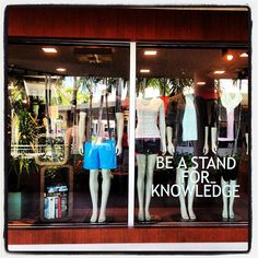 Stand for knowledge @ lululemon (originally taken by windowshop with instagram)