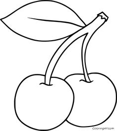 Fruit Coloring Pages, Easy Coloring Pages, Flower Coloring Pages, Coloring Sheets, Coloring Books, Fairy Coloring, Free Printable Coloring Pages, Mandala Coloring, Free Coloring