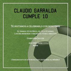Soccer Futbol -Celebra con estilo con las invitaciones y tarjetas virtuales de LaBelleCarte: www.LaBelleCarte.com