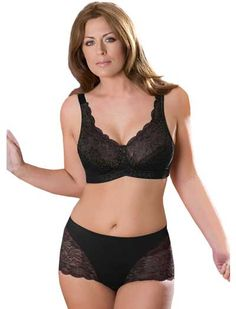 428358ea3e69f The Elila Stretch Lace Soft Cup Bra supports fuller figures with a gorgeous  lace design.
