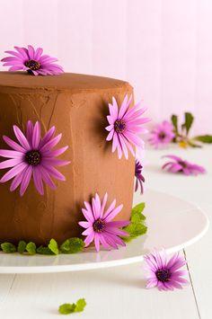 Layer cake de chocolate y fresas