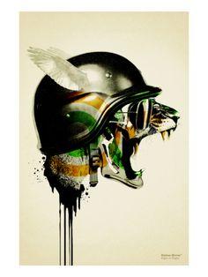 Modern art edgy urban #tiger