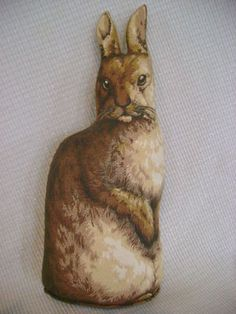 Vintage Arnold Print Works Toy Folk Art Stuffed Cloth Rabbit 1892 Americana | eBay