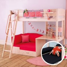 loft bed with couch