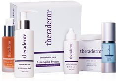 Theraderm Anti-Aging System Theraderm has been providing patients with anti-aging products for over 20 years. Our scientific research has perfected advanced Read more http://cosmeticcastle.net/theraderm-anti-aging-system/ Visit http://cosmeticcastle.net to read cosmetic reviews