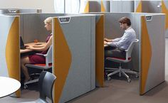 Haven Pods - Product Page: http://www.genesys-uk.com/Haven-Pods.Html  Genesys Office Furniture Homepage: http://www.genesys-uk.com  Haven Pods provide a defined space for individual work and spaces for team collaboration with an efficient geometric design which enhances the product's acoustic performance.