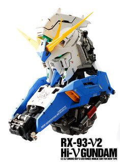 GUNDAM GUY: 1/24 RX-93-V2 Hi-V Gundam Head (Resin Kit) - Painted Build