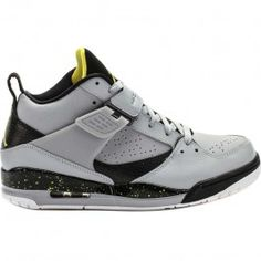 4cca7e05510 Jordan Air Jordan Flight 45 Mens Lifestyle Shoes (Wolf Grey Yellow White)  at Shoe Palace